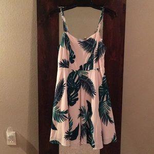 Palm leaf cami dress